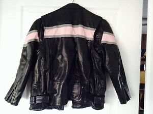 Childs matching leather jacket and chaps