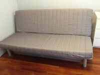 IKEA LÖVÅS Three-seat sofa-bed, Knisa light grey RRP £200 - mint condition