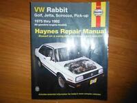 VW Rabbit Golf Scirocco Pick-up GTI Shop Manual 1975-1992