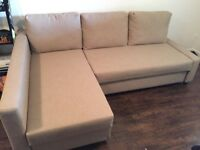 IKEA corner sofa bed , very good condition. Delivered