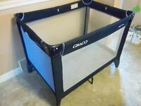 graco play pen in good condition with caring case