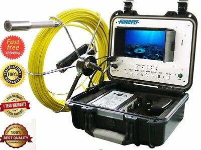 Sewer Drain Pipe Clean System 1 Inspection Video Camera 130 Feet Lcd 7 Usb Sd