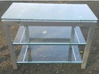 Glass Table TV Stand Console Table