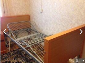 Adjustable nursing bed