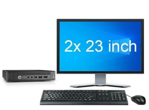 "HP EliteDesk 800 G2 Mini i5 6e Gen + 2x 23"" FHD Monitor +..."