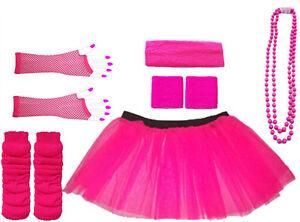 LADIES-PINK-NEON-TUTU-SKIRT-FANCY-DRESS-HEN-PARTY-PARTY-UV-FISHNET-8-16-16-22