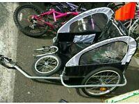 2 seater bike child carrier trailer