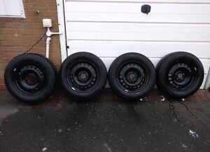 """17"""" Steel wheels and winter tires for sale"""