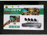 Brand new 4 CHANNEL CCTV kit 1 TB hard drive. 1080p AHD. MOBILE VIEWING
