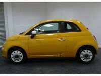 Fiat 500 Colour Therapy 2012 Mustard Yellow Low Mileage FSH