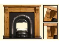 fireplace - Plain rustic, pine finish