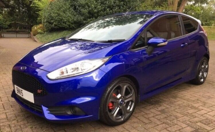 ford fiesta st 2015. 2015 ford fiesta st2 style pack 15 plate spirit blue full service history st