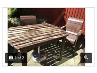 Wooden garden table & chair set