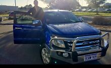 2012 Ford  Ranger PX XLT Double Cab in Blue 6 speed sports automatic Morley Bayswater Area Preview