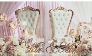 $250 SPECIAL BRIDE & GROOM WEDDING CHAIRS/ BRIDAL SHOWER