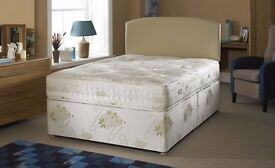 CASH ON DELIVERY // DOUBLE DIVAN BED WITH MATTRESS // FREE DELIVERY