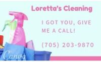 Looking for a cleaning lady?  Give me a call