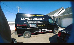 Lortie's mobile tire change service