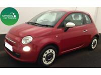 £126.41 PER MONTH RED 2013 FIAT 500 1.2 COLOUR THERAPY 3 DOOR PETROL MANUAL