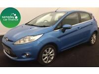 ONLY £105.27 PER MONTH BLUE 2009 FORD FIESTA 1.4 ZETEC 5 DOOR PETROL MANUAL