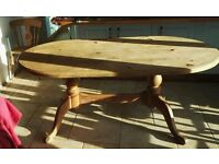 """Large solid pine dining table. 70""""178cm long,37.5""""95cm wide"""