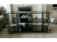 42 inch black glass tv stand