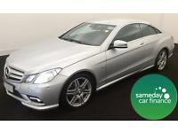 £293.22 PER MONTH SILVER 2010 MERCEDES E350 3.0 B/E SPORT TIP COUPE DIESEL AUTO