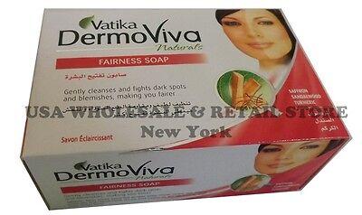 BUY 5 GET 1 FREE Dabur Vatika Dermoviva Fairness Soap Saffron Sandalwod Turmeric