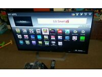 Lg 55 inch super slim led smart 3D cinema WiFi new condition fully working with remote control