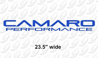 Used, Camaro Performance - Blue Vinyl Banner Decal Sticker Z28 SS LS1 LS3 L99 ZL1 for sale  Big Lake
