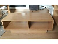 TV stand, table, oak effect