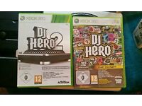Dj hero console with 2 games