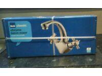 Chrome basin mixer tap
