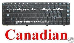 HP-G62-G56-Compaq-Presario-CQ62-CQ56-Keyboard-Clavier-Canadian