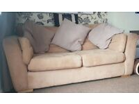 Very comfy Beige Sofa Bed. Removable covers