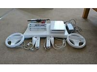 Wii and Wii balance board with games