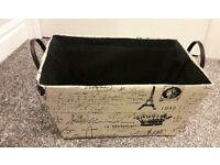 Black & Beige Storage Box
