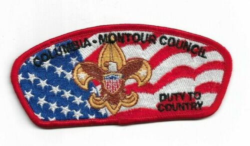 boy scout columbia-montour council FOS 2002 duty to country patch mint