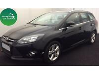 £161.47 PER MONTH BLACK 2012 FORD FOCUS 1.6 ZETEC 5 DOOR DIESEL MANUAL
