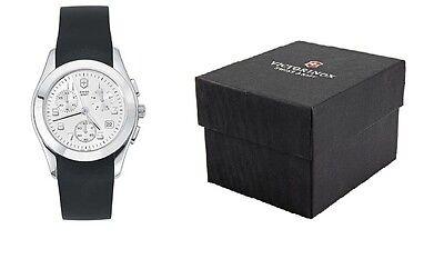 Swiss Army Alliance Chrono - Victorinox Swiss Army Alliance chrono watch silver dial black rubber strap 24667