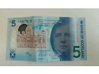 New AA4 five pound note
