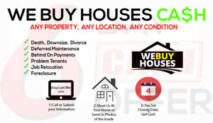 **I BUY HOUSES** House Trashed?  Needs Work/Repairs?   'AS-IS'