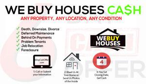 **WE BUY HOUSES** Need Repairs?   Problem Tenants?  Forclosure?