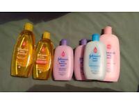 Johnsons baby bath stuff