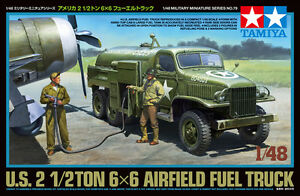 Tamiya-32579-1-48-Model-Kit-U-S-Army-Air-Forces-2-1-2Ton-6x6-Airfield-Fuel-Truck