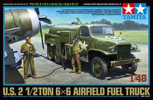 Tamiya-32579-1-48-Model-Kit-U-S-Army-Air-Forces-2-1-2Ton-6x6-Airfield-Fuel-Truck
