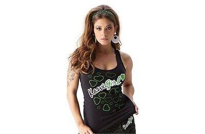 Kawasaki Womens Sweet Hearts Tank Top Shirt Black Sweet Womens Tank Top