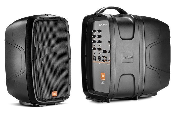 JBL EON206P Powered PA Portable System with Mixer UPC 050036