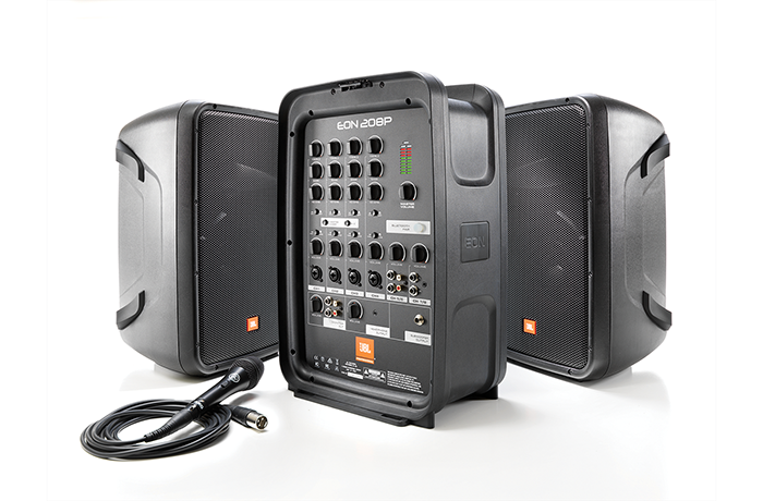 JBL EON208P Portable 300 Watts PA System with 8-Channel Mixe