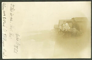 Wheelbarrrow beach play Lake George IN RPPC 1907